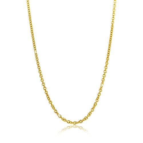 Orovi Damen Ankerkette Halskette 8 Karat (333) GelbGold Anker rund Kette Goldkette 1,5mm breit 45cm lange