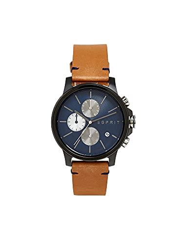 Esprit Chronograph mit Leder-Armband