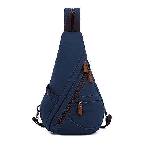 FANDARE Unisex Brusttasche Sling Bag 3 in 1 Herren Rucksack Damen Schulranzen Junge Mädchen Schulrucksack Schultertasche Umhängetasche Sporttasche für Schule Reise Pendeln Joggen Daypacks Dunkelblau