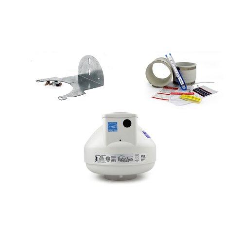 cheap RadonAway RP145 Radon fan + mounting kit + mounting bracket