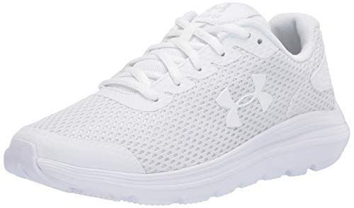 Under Armour Women's Surge 2 Running Shoe, White (100)/White, 10