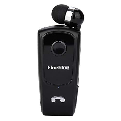 Gazechimp Fineblue F920 Auricolare Bluetooth 4.0 Retrattile Auricolare Clip-on Earbud - Nero