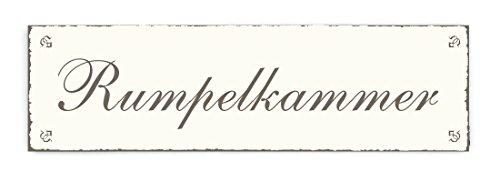 RUMPELKAMMER Schild im Vintage Look - ca. 20 x 6 cm - TÜRSCHILD