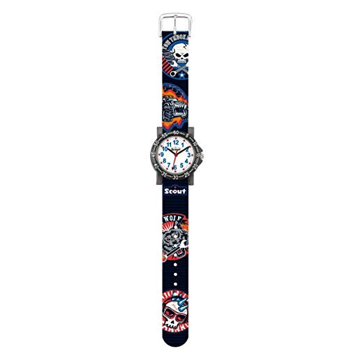 SCOUT Jungen Analog Quarz Uhr mit Stoff Armband 280375015