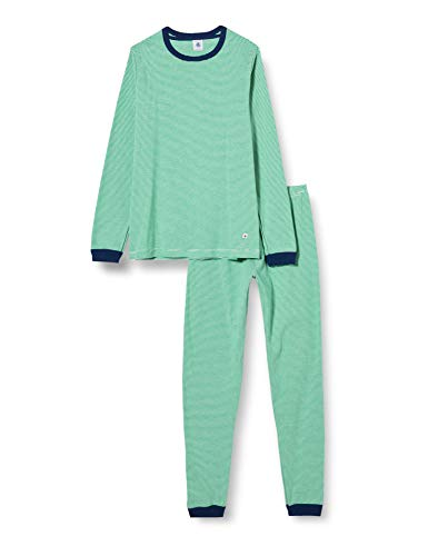 Petit Bateau Pyjama Milleraie Grün Kleiner Junge in der Küste Gr. 3 Jahre,...