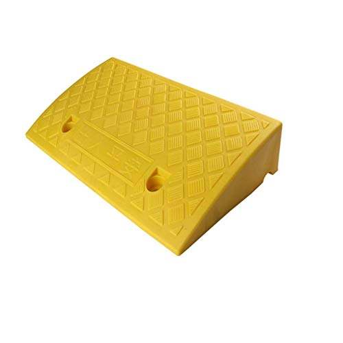 Ramps for wheelchairs Yard Threshold Ramps, Hotel Luggage Cart/Suitcase Stairs Steps Ramps Garage Service Ramps/Suitable for Places with Slopes Practical (Color : Yellow, Size : 48 * 26 * 11.5cm)