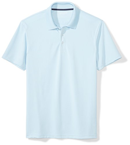 Amazon Essentials Slim-fit Quick-dry Golf Polo Shirt Poloshirt, Blau (Light Blue), ((Herstellergröße: Large)