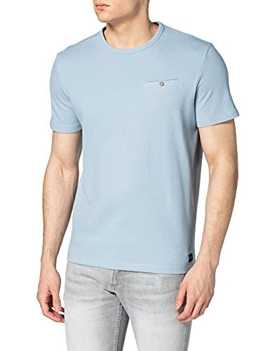TOM TAILOR Herren 1025430 Structure T-Shirt, 11752-Yonder Blue, 3XL