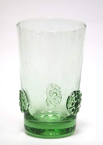 Original Thüringer Waldglas Becher Agnes mit 3 Nuppen 12cm 0,25 l Geschenkset 2 Stück im Geschenkkarton