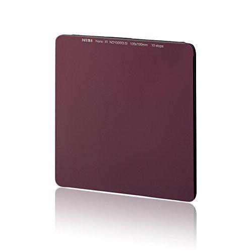 Filtro de densidad neutra de 100x 100mm NiSi IR ND1000(3.0), de 10pasos, idéntico al Big Stopper de Lee, hecho de cristal, para lentes de 52mm, 55mm, 58mm, 62mm, 67mm, 72mm, 77mm y 82 mm, compatible con filtros Lee, Cokin Hitech y Singh-Ray
