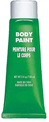 Amscan 39007603 Non Toxic Cream Based Full Body Paint, 34 Oz, Green
