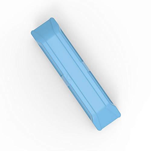 Elehealthy - Limpiador magnético de doble cara, herramienta de refrigeración de vidrio, limpiador de vidrio para ventanas de doble acristalamiento (azul/cristal de 3-8 mm)
