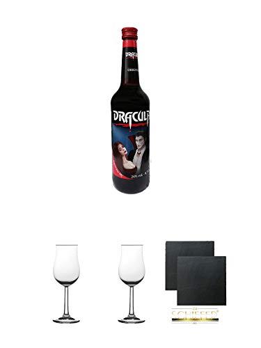 Dracula Original Ingwerlikör 0,7 Liter + Gläsergeschenkset