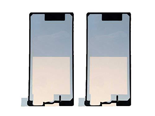 Flügel 2 x Kleber Akkudeckel Klebefolie Klebepad Back Cover Sticker Adhesive für Sony Xperia Z1 Compact Mini D5503