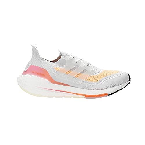 adidas Ultraboost 21 W, Zapatillas para Correr Mujer, Crystal White/Crystal White/Acid Orange, 40 EU