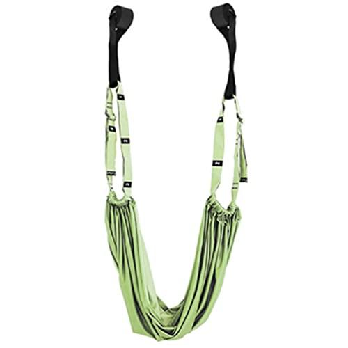 Gimnasio colgante inversión swing aérea yoga hamaca camilla banda cinturón salud verde claro