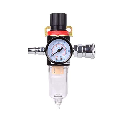 """Hotgod 1/4\"""" BSP Compresde aire aire filtro de humedad trampa de aceite separde agua regulador de lubricador"""