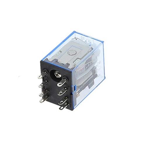 Jgzwlkj Relé 1 unids MY2P HH52P MY2NJ Relais Boil General DPDT Micro Mini Relaje electromagnético Interruptores con LED AC 110V 220V 380V DC 12V 24V 36V (Size : AC 380V)