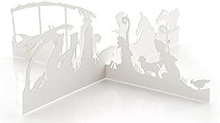Modern Nativity Christmas Card and 3-D Paper Scene, Valerie Atkisson