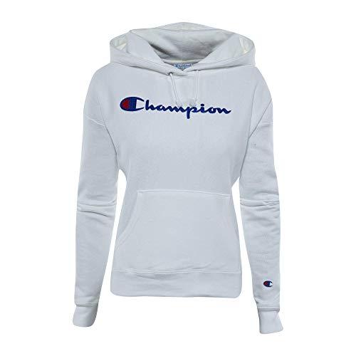 Champion LIFE Pull à capuche pour femme avec tissage inversé. - blanc - Small