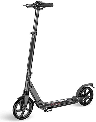 FHDFH Kick Scooter, Scooter para niños, Scooter para adultos, plegable, 2 ruedas, ruedas antideslizantes de goma sólida, doble absorción de golpes, adecuado para adolescentes