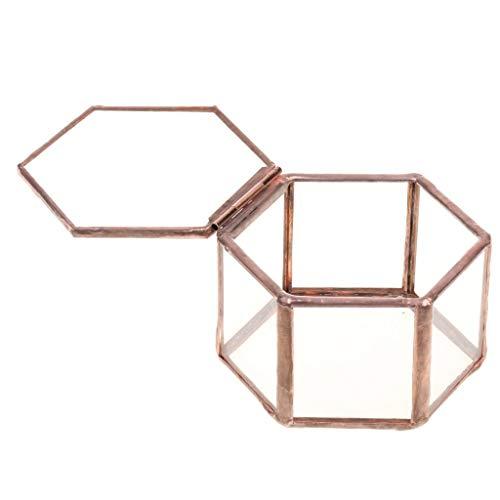Cosmetische Accessoires of Beauty Tools Vintage Gezicht helder glas Geometrische Terrarium Sieraden Doos Tafelblad Succulente Planten Planter Mini voor Unisex Sieraden Accessoires Gift