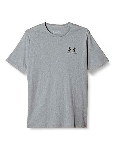 Under Armour Sportstyle Left Chest Camiseta, Hombre, Gris (Steel Light Heather/Black), M