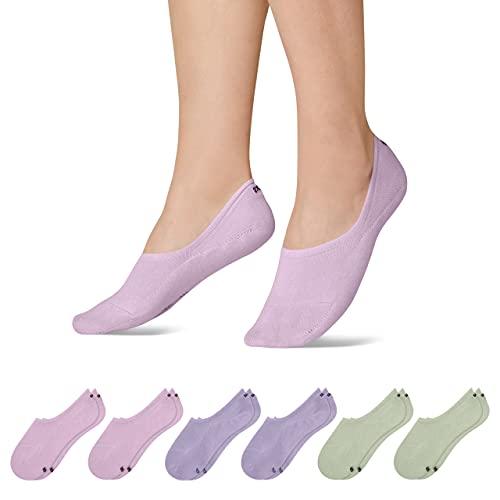 Snocks Sneaker Socken Damen & Herren (6x Paar) Füßlinge (6x Pastel Mix 2, 43-46)