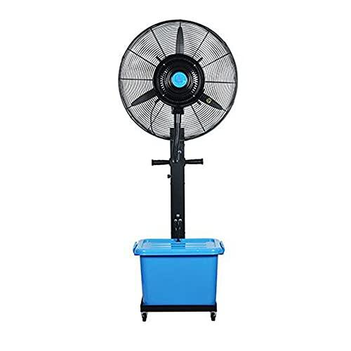 FUFU Climatizadores evaporativos 30'Ventilador oscilante con 3 velocidades de enfriamiento con Ventilador de Metal 100% de Cobre, Ventilador de Soporte de Alta Velocidad, Metal para Trabajos Pesados