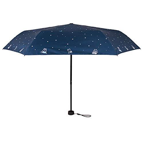 ZHANGYY Multifunktionale C-förmige Umkehrung Freisprecheinrichtung Sunny Umbrella Compact Schnelltrocknender Faltschirm Verstärkte Windschutzscheibe Automatische Öffnung Schließen