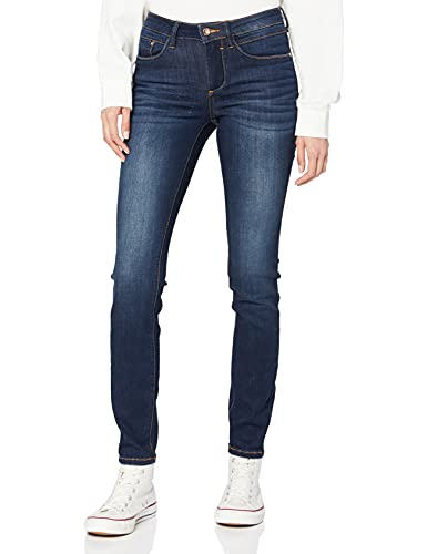 TOM TAILOR Damen Alexa Skinny' Jeans, Blau (dark stone wash deni 10282), 32W / 32L