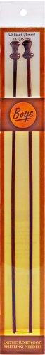 Boye Single Point Rosewood Knitting Needles