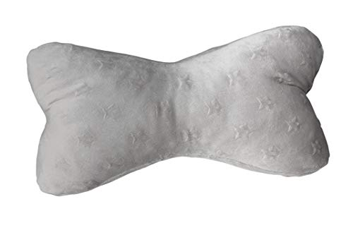 Biona Keltenknochen/Lesekissen/Leseknochen groß 45x25 cm + Ökotex (Vlies Minky Sterne Taupe, mit Inlett)