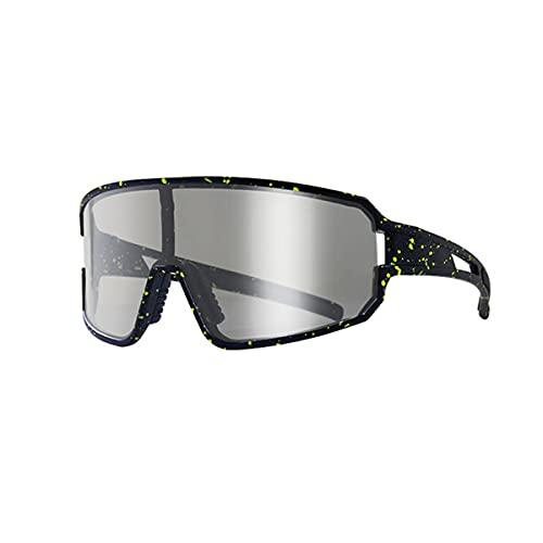 LXQLLJJD Las Gafas De Sol Polarizadas Pueden Cambiar De Color De Forma Inteligente, Gafas Anti-Ultravioleta Y a Prueba De Viento para Pesca, Golf, Béisbol Y Deportes Al Aire Libre,Negro