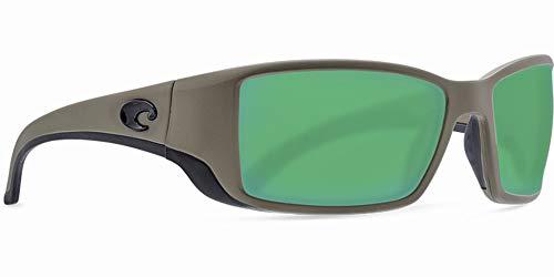 Costa Del Mar Blackfin Sunglasses Moss/Gray Silver Mirror 580Glass