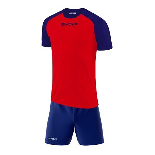 Perseo Sport Kit Calcio Givova Capo Completo Maglia e Pantaloncino Calcetto Volley Fitness (XL,...