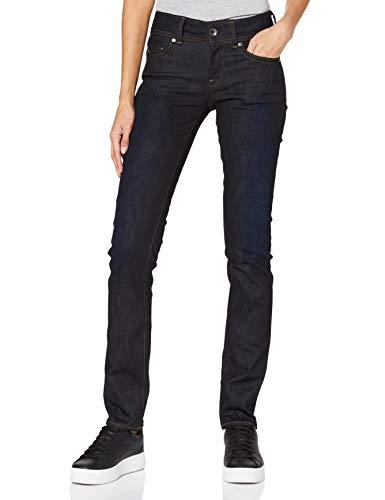 G-STAR RAW Damen Jeans Midge Mid Waist Straight, Dk Aged 7209-89, 31W / 30L