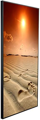 Ecowelle Infrarotheizung mit Bild | 600 Watt | 60x120x2 cm | Infrarot Heizung| | Made in Germany| d 2 Sonnenuntergang am Strand