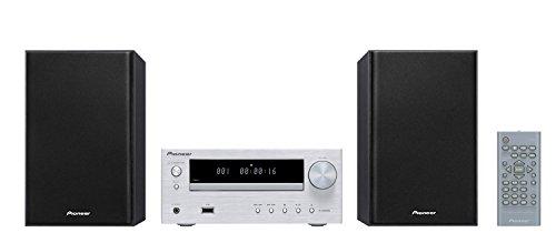 Pioneer X-HM16(S) Microsystem mit Zweiwege-Boxen (FM-Radio, CD, MP3-USB, Fernbedienung, Timer- und Weckfunktion) Silber