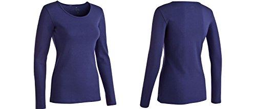 Domyos Exclusive Damen Langarmshirt, Biobaumwolle Fitness Pullover Gr. 3XL, jenasblau