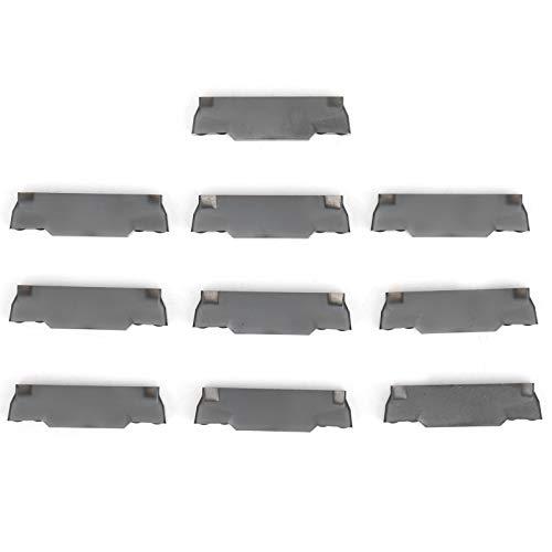 Hoja de inserción de torneado de carburo sólido indexable de torno CNC de 10 piezas para soporte de herramienta de torneado de torno para el acabado de acero MGMN300-M LDA
