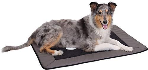 Knuffelwuff 12673 Universal Hundematte Fim Exclusive für Haus Garten Auto viel mehr, S-M, 82 x 55 cm, grau/schwarz