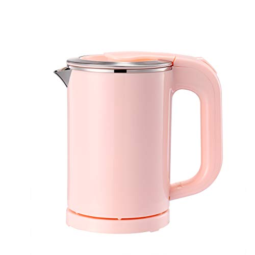 BonNoces Portable Electric Kettle  05L Small Stainless Steel Travel Kettle  Quiet Fast Boil amp Cool Touch  Perfect for Traveling Boiling Water Coffee Tea Pink