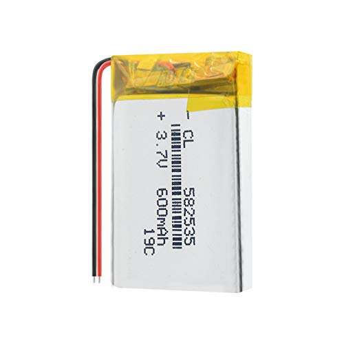 RFGTYH Batería Recargable de polímero de Litio 582535 600 mah 3,7 V para MP3 MP4 MP5 GPS PSP Mid Auriculares Bluetooth