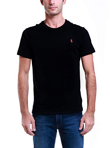 Polo Ralph Lauren Tee-Shirts T-Shirt, Nero (RL Black A0060), M Uomo