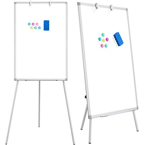 Yaheetech Stand White Board - 36 x 24 inches Magnetic Tripod White-Board, Height Adjustable Dry Erase Board Flipchart Board, Easel Stand White Board Display Stand for Office, Home, Classroom