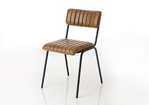 Amadeus - Chaise en Cuir Marron (Lot de 2)