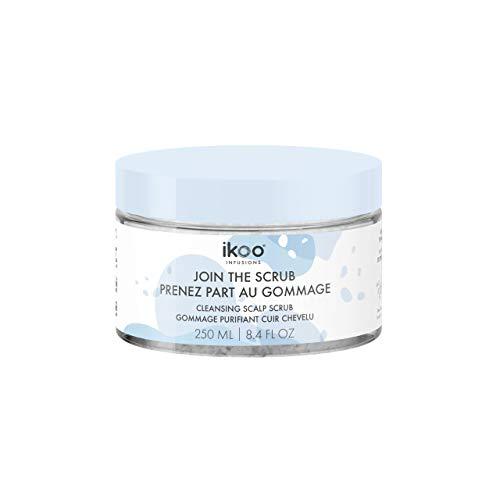ikoo Infusions Cleansing Scalp Scrub - Exfoliante capilar a base de sales marinas y extracto de flores de hibisco ayuda a eliminar células muertas, para todo tipo de cabello, libre de alcohol - 250 ml