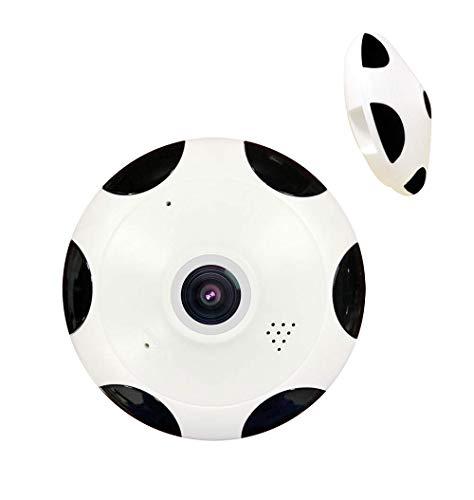 360 HD Wi-Fi Wireless IP cámara de seguridad, para la seguridad del hogar y la oficina con audio de 2 vías de grabación remota de detección de movimiento IR visión nocturna,Europeanstandardplug