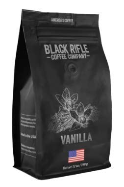 Flavored Coffee by Black Rifle Coffee Company (Vanilla, 12 Ounce Ground)